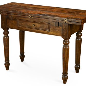 Rae Folding Table, Pecan, Console Table