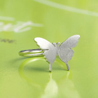 Silver Butterfly Ring, Handmade 925 Silver Ring, Handmade Sterling Silver Jewelry, Bridesmaid ring, Bridal, Wedding, Teenage, Gift