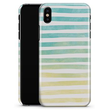 Green WaterColor Ombre Stripes - iPhone X Clipit Case