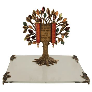 Brass Tree of Life Presentation Gift by Quest, Sculptures Size: 8x8x7.5H