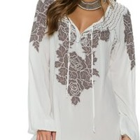 SWELL SOPHIA EMBROIDERED TUNIC