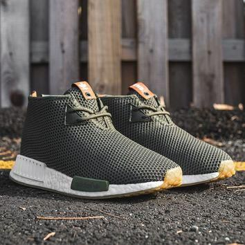 END CLOTHING X ADIDAS CONSORTIUM NMD_C1 - EARTH GREEN/WHITE ¨C PACKER SHOES