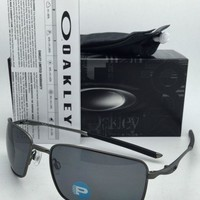 Polarized OAKLEY Sunglasses SQUARE WIRE OO4075-04 Carbon Frames with Grey Lenses
