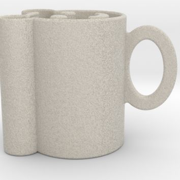 smiley face bear mug 3d printed Mug by cranberrysky on Shapeways