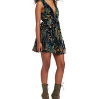 Chelsea & Violet Printed Burnout Velvet Dress | Dillards