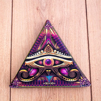 Third eye of Horus Stretched Canvas Print