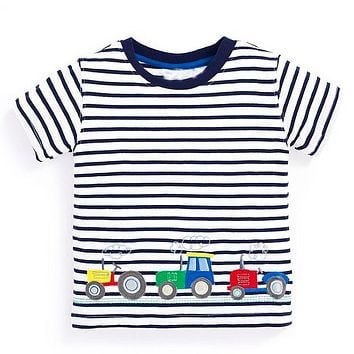 Baby Boys T shirts for Kids Clothes Children Clothing Boys T-shirt with Animal Striped Boys Tops Clothes