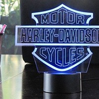 3D Harley Davidson Lighting by Playtime 123 is a Great Nightlight with a Soft Glow for Kids. These Lights Great Christmas Gifts with a 1 Year Warranty.