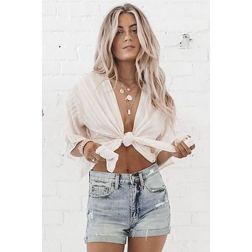 Never Say Never Wrap Top