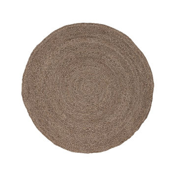 Jaipur Rugs Naturals Solid Pattern Neutral/Ivory Jute Area Rug SPI02 (Round)