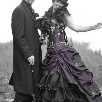 Steampunk Wedding Dress Available in many colors Alternative