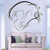 Wall Vinyl Sticker Decal Abstract Horse and Girl Stables Animal Decor Art Unique Gift (z769)