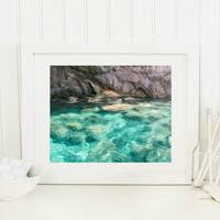 Greece photography, water photography, ocean water print, blue water art, travel photography, ocean photography, Antiparos Greece print
