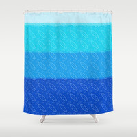 Boards&Fins Shower Curtain by Titus Ruiz