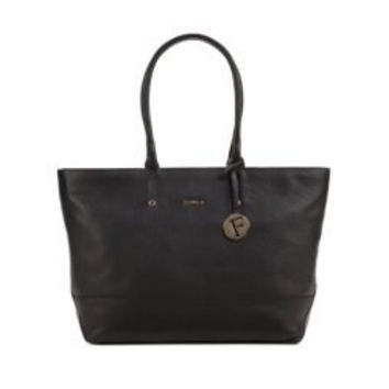 Furla Melissa Medium East West Tote with Zip Travel Tote - Onyx-Black