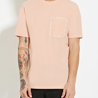 Abstract Graphic Pocket Tee | 21 MEN - 2000151083