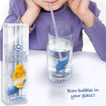 DRINK DIVERS BUBBLE STRAWS