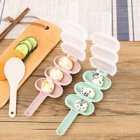 Shaking Rice Balls Mold Baby Children Lunchbox DIY Rice Ball Shape Sushi Maker Mould Rice Ball with Spoon Kitchen Mold Tools