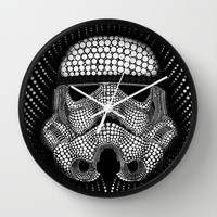 Trooper Star Circle Wars Wall Clock by Msimioni