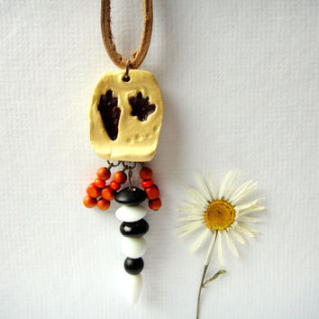 Raccoon Animal Spirit Totem Necklace native american tribal paw print dream catcher woodland animal jewelry