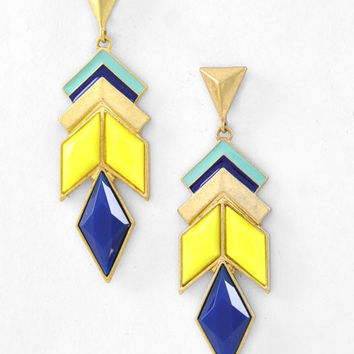 Pocahontas Earrings - Blue