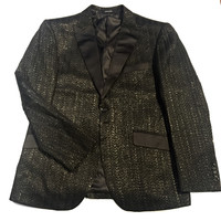 "Angelino ""Braid"" Herringbone 2 -Button Blazer"
