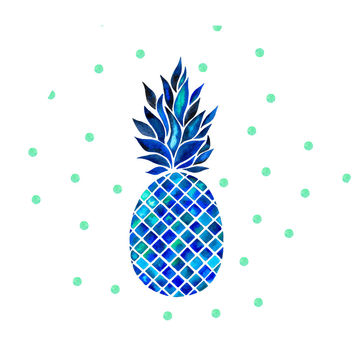 Maritime Pineapple Hex Wall Decal