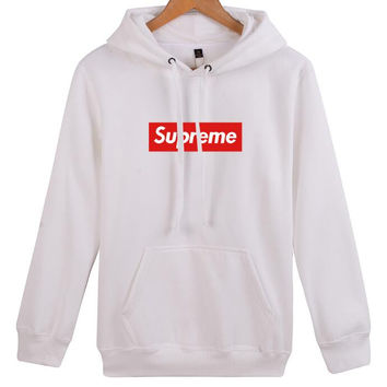 supreme print Long-sleeved hooded sweater Hoodies coat