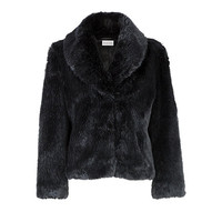 Buy Kaliko Soft Faux Fur Coat, Black online at John Lewis