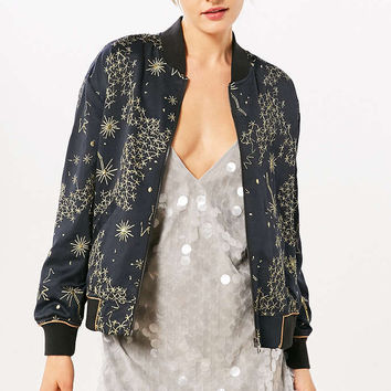 Silence + Noise Livia Celestial Bomber Jacket - Urban Outfitters