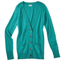 Mossimo Supply Co. Juniors Long Sleeve V Neck Boyfriend Cardigan - Assorted Colors