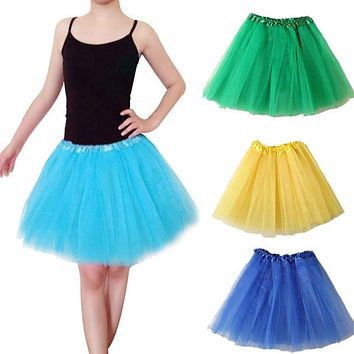Summer skirt woman ballet tutu Skirts girl mini bodycon Tulle Yarn Skirt Women Faldas Saia Femininas sexy Vestidos Bottoms solid