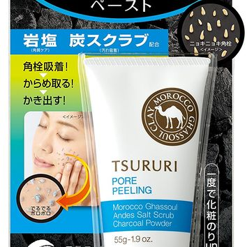 BCL Tsururi Black Head Peeling Ghassoul, 0.5 Pound