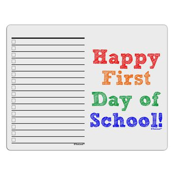 Happy First Day of School To Do Shopping List Dry Erase Board