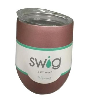 Swig Insulated Cup tumbler 9 Oz Vacuum Egg with Lid