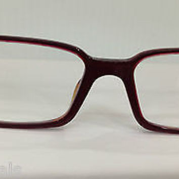 NEW AUTHENTIC VERSACE VE3142 COL 868 RED PLASTIC EYEGLASSES FRAME MOD 3142