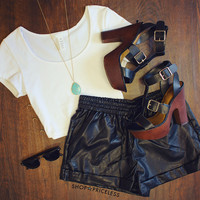 Uptown Funk Pleather Shorts