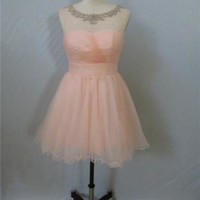 Prom Dress Pink Tulle