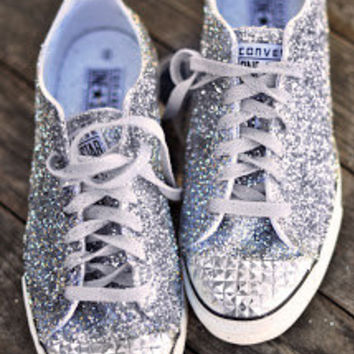 Converse #Prom #Wedding #Bling #Shiny #Glitter #converse