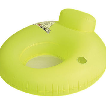 "48"" Neon Green Water Sofa Inflatable Swimming Pool Inner Tube Lounger Float"