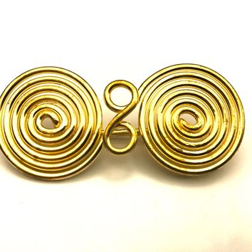 Spiral Brooch, Spiral Brooch, Spiral Fibula, Viking Brooch, Viking Jewelry, Cape Brooch, Bronze Pin