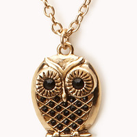 Owl Pendant Necklace | FOREVER 21 - 1000051498