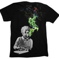 Albert Einstein The Cosmos Funny Scientist Adult T-Shirt Tee