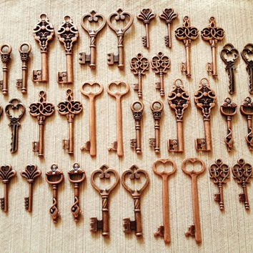 Keys to the Kingdom  Skeleton Keys  36 x Vintage by thejourneysend