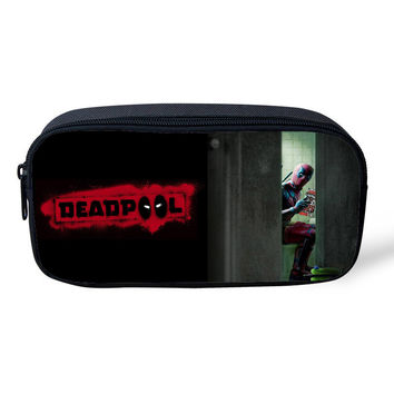 Deadpool Pencil / Cosmetic Zipper Pouch