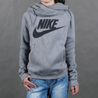 """Nike"" Women Sport Casual Logo Letter Print Long Sleeve Hooded Sweater Pullover Sweatshirt Tops"