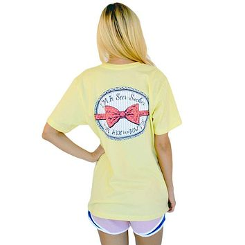 I'm a Seersucker for a Boy in a Bow Tie Tee in Yellow by Lauren James - FINAL SALE