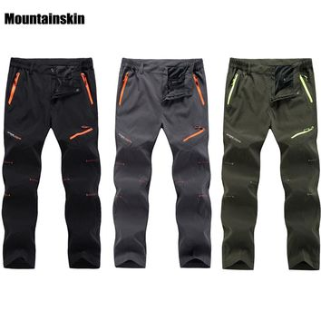 Spring Summer Quick Dry Cool Long Pants Breathable Sports Pant Men Plus Size Outdoor Hiking Camping Fishing Trousers 2018 RM098
