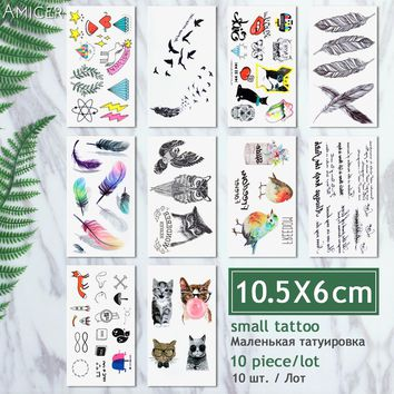 10 Pcs / Lot  10.5x6cm  tattooWaterproof Temporary Tattoos dreamcatcher flash Tattoo stickers body art transferable fake tattoo