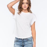 Rusty Blank Womens Tee White  In Sizes